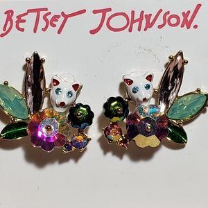 🐈 BETSEY JOHNSON Just Kitten Around Earrings